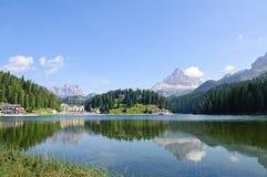 Lake Misurina and Tre Cime di Lavaredo - Dolomites Stock Images