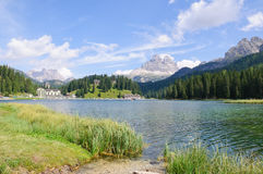 Lake Misurina and Tre Cime di Lavaredo - Dolomites Royalty Free Stock Photos