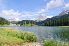 Lake Misurina and Tre Cime di Lavaredo - Dolomites Royalty Free Stock Photos
