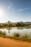 Lake in Mlilwane Wildlife Sanctuary in Swaziland Royalty Free Stock Images