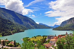 Lake of Molveno, Italy Royalty Free Stock Photos