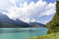 Lake Molveno in Italy Royalty Free Stock Images