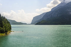 Lake of Molveno (Trento) Stock Photo