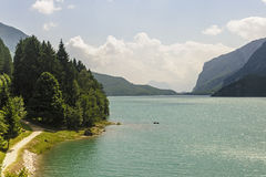 Lake of Molveno (Trento) Stock Photography