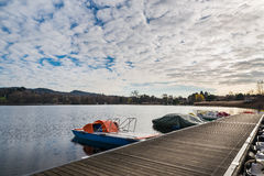 Lake Monate from Cadrezzate, province of Varese, Italy Stock Photography