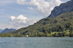 Lake Mondsee in Austrian Alps Royalty Free Stock Photography