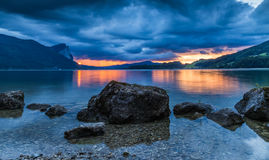 Lake Mondsee at Sunset Royalty Free Stock Image