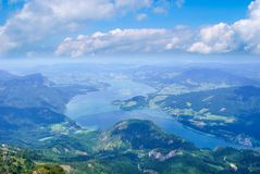 Lake Mondsee view Austria royalty free stock photo