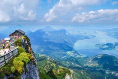 Lake Mondsee view Austria 2 royalty free stock image