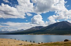 Lake in Mongolia Royalty Free Stock Images