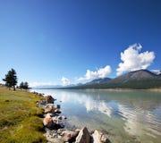 Lake in Mongolia Royalty Free Stock Image