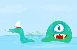 Lake monster Stock Photo