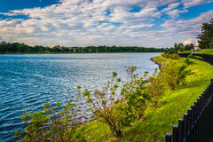 Lake Montebello, in Baltimore, Maryland. Lake Montebello, in Baltimore, Maryland stock image