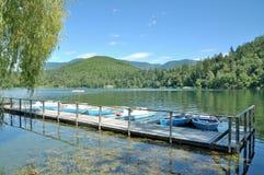 Lake Montiggler See,South Tirol,Italy Royalty Free Stock Images