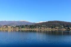 Lake of Montorfano (Italy) stock photography