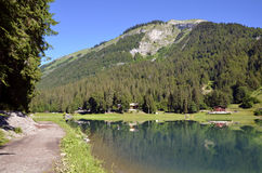 Lake of Montriond in France Royalty Free Stock Photos