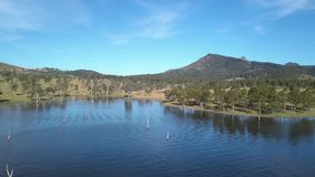 Lake Moogerah in Queensland during the day. Lake Moogerah on the Scenic Rim in Queensland during the day stock video footage