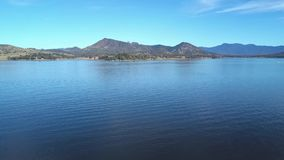 Lake Moogerah in Queensland during the day. Lake Moogerah on the Scenic Rim in Queensland during the day stock footage