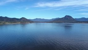 Lake Moogerah in Queensland. Lake Moogerah on the Scenic Rim in Queensland during the day stock footage