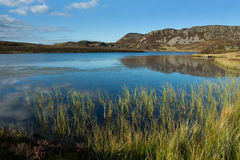 Lake and moorland Royalty Free Stock Images