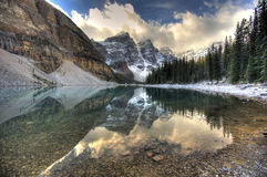 Lake Moraine - Alberta, Canada Royalty Free Stock Images