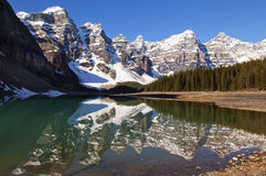 Lake Moraine,Banff National Park Royalty Free Stock Photos