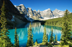 Lake Moraine. Banff national park Stock Images