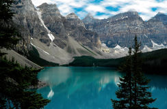 Lake Moraine, Banff National Park, Canada Stock Image