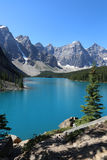 Lake Moraine in Banff Royalty Free Stock Images
