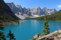 Lake Moraine Blue Stock Image