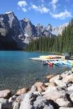 Lake Moraine Canada. Beautiful Moraine Lake in the Canadian Rockies, Banff National Park Stock Photos