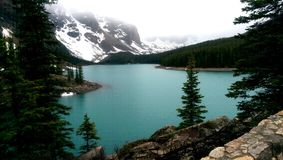 Lake Moraine Canada. Banff National Park glacial water canadian rockies Stock Photography
