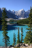 Lake Moraine Canoeing. Summer canoeing on Lake Moraine in Banff Canada Royalty Free Stock Image
