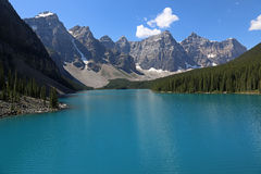 Lake Moraine Copy-space Royalty Free Stock Photos