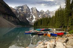 Lake Moraine Stock Image