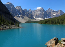 Lake Moraine View Royalty Free Stock Images
