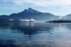 Lake in the morning Royalty Free Stock Photo