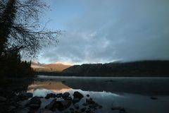 Lake morning Stock Images