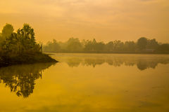 Lake in the morning. Royalty Free Stock Images
