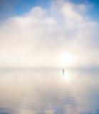 Lake in morning mist Royalty Free Stock Photos