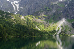 Lake Morskie Oko, Tatra National Park Stock Images