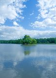 Lake at the moscow park Royalty Free Stock Images