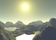 Lake Mountain. Is an image of a landscape at dawn Royalty Free Stock Image