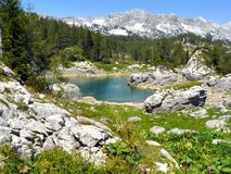 Lake on mountain Royalty Free Stock Images
