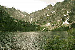 Lake on the Mountain. In southern Poland Stock Image