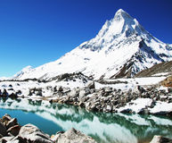 Lake in mountain Stock Images