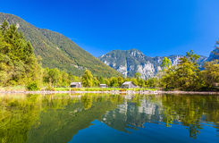 Lake and mountain. Rural landscape in Austria Royalty Free Stock Photo