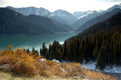 Lake & Mountain Royalty Free Stock Photography