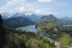 Lake and Mountain. Alpsee near Neuschwanstein Castle in southwest Bavaria, Germany Royalty Free Stock Photo