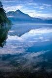 Lake and Mountain in Bali Stock Photo